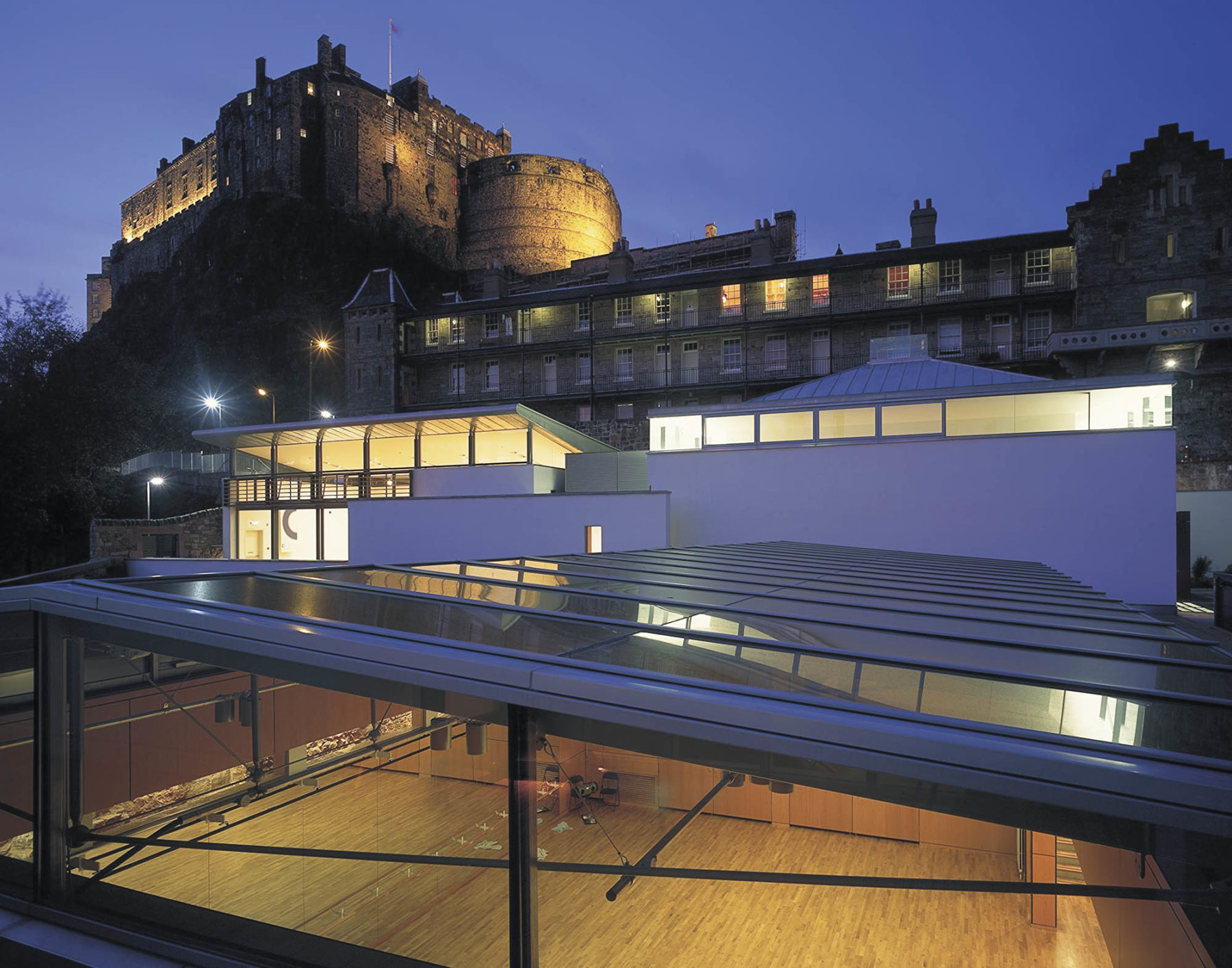 Dance Base , Edinburgh with Edinburgh Castle